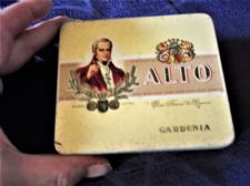 VINTAGE EMPTY CIGAR TIN 20 CIGARILLOS ALTO GARDENIA STILL GOOD COLOUR